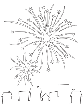 fireworks-coloring-page | TEMP | Pinterest | Labour, Applique ideas ...
