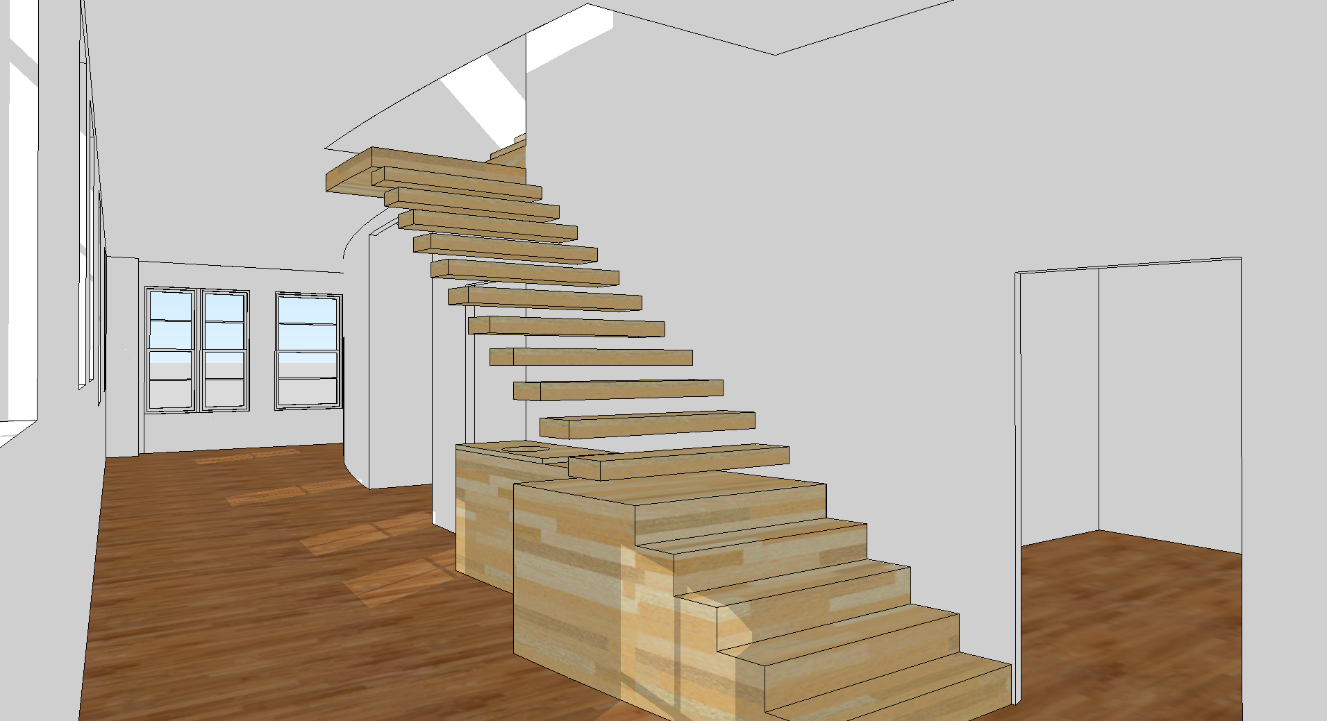 3d Floor Plan Software Free with minimalist staircase design for 3d ...