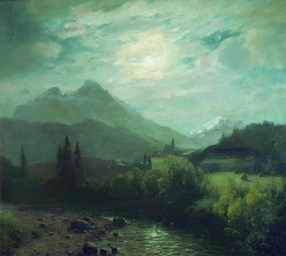 Lev Feliksovich Lagorio (1828-1905) - Alpine landscape