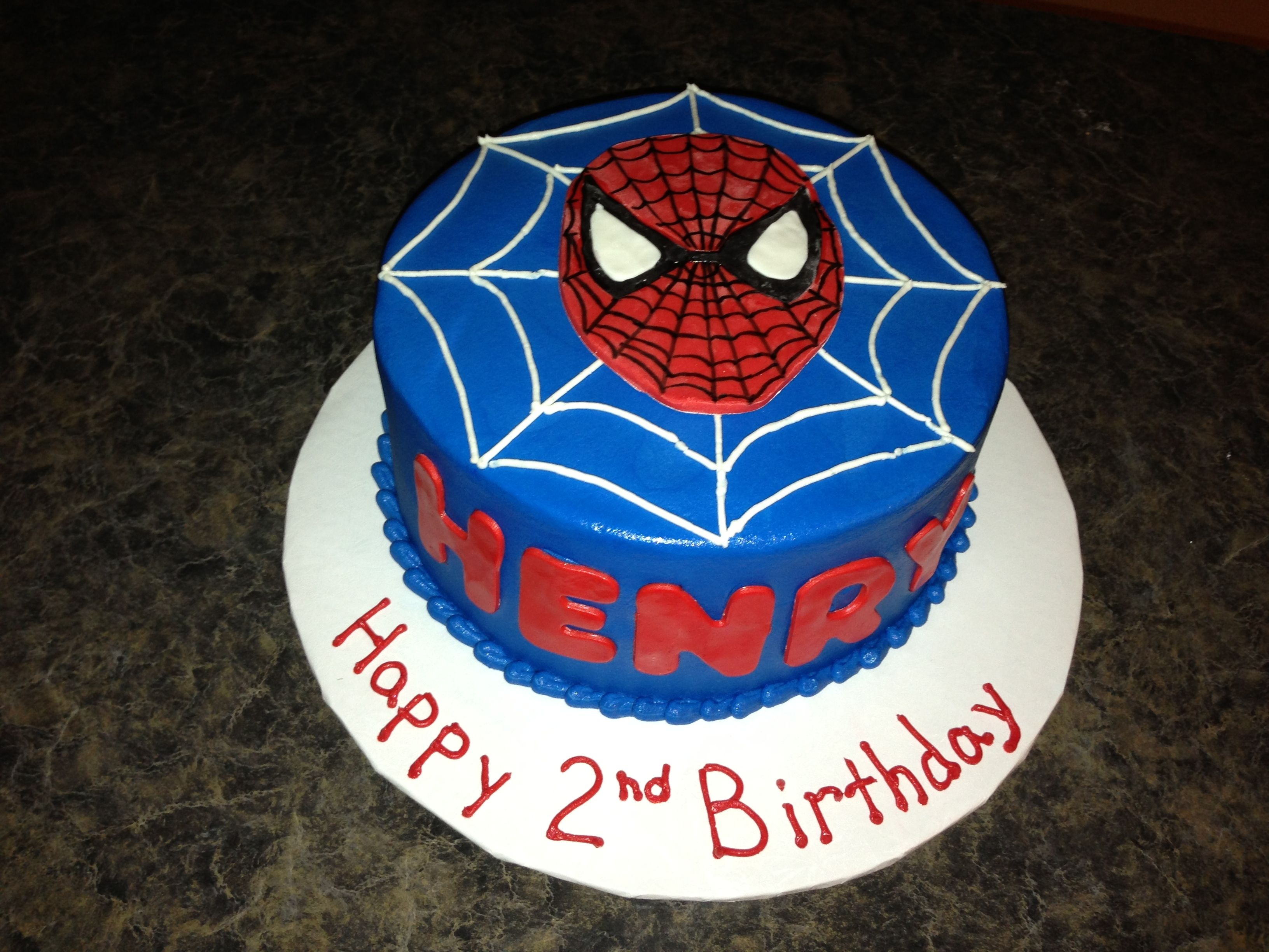 round spiderman cake Smash cake spiderman birthday