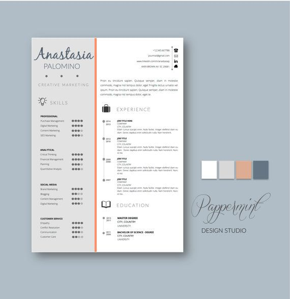 resume template with cover letter for word with timeline - Templates Resume Word