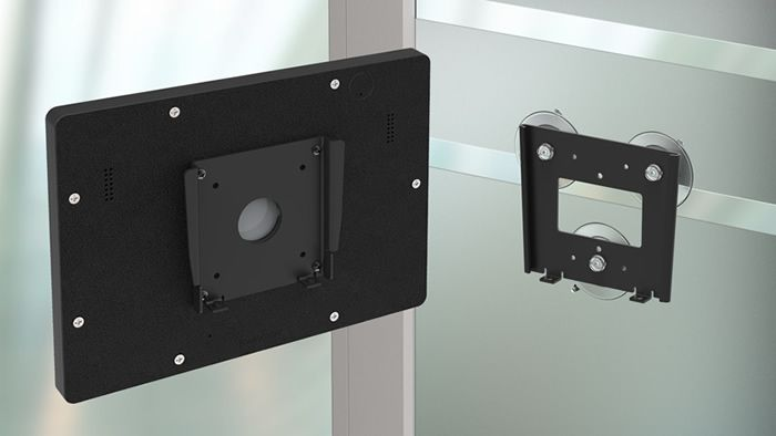 Our Removable Fixed Glass Ipad Tablet Vidamount Kit Allows Fast Easy Docking With The Wall Mount S Spl Digital Signage Displays Signage Display Vesa Bracket