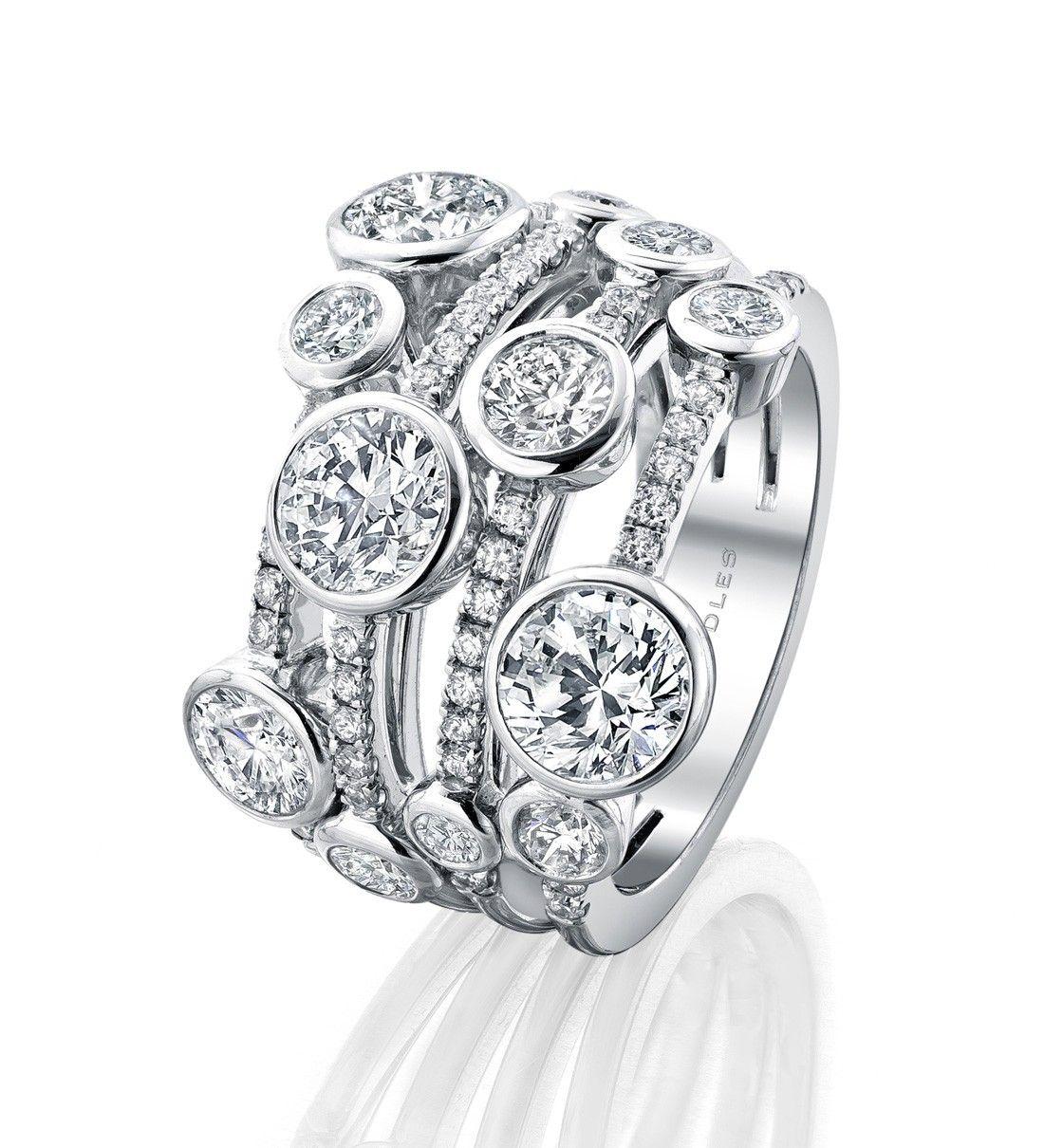 Waterfall Ring  Diamonds