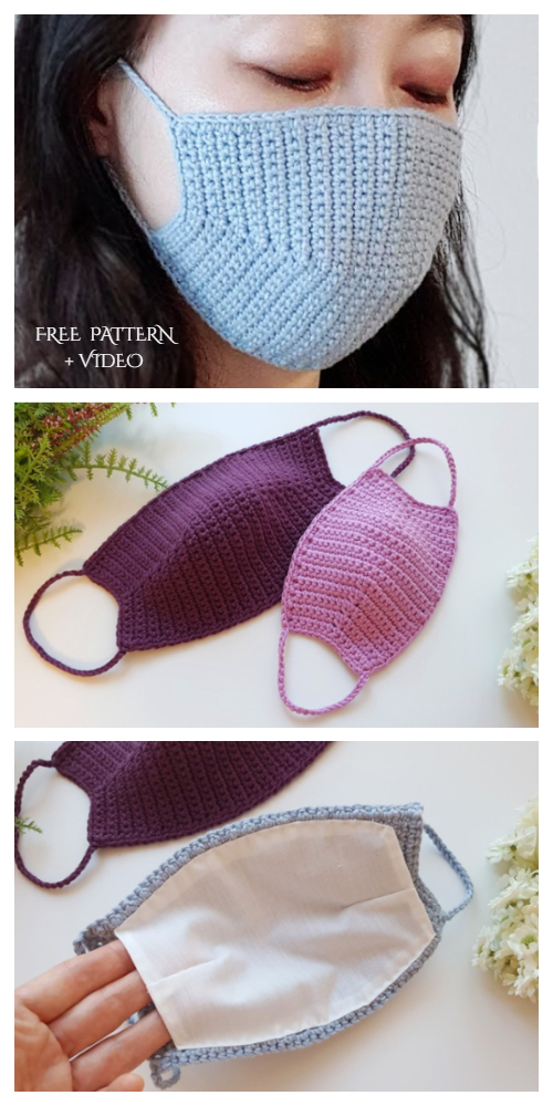 Face Mask Free Crochet Patterns Paid Video In 2020 Crochet