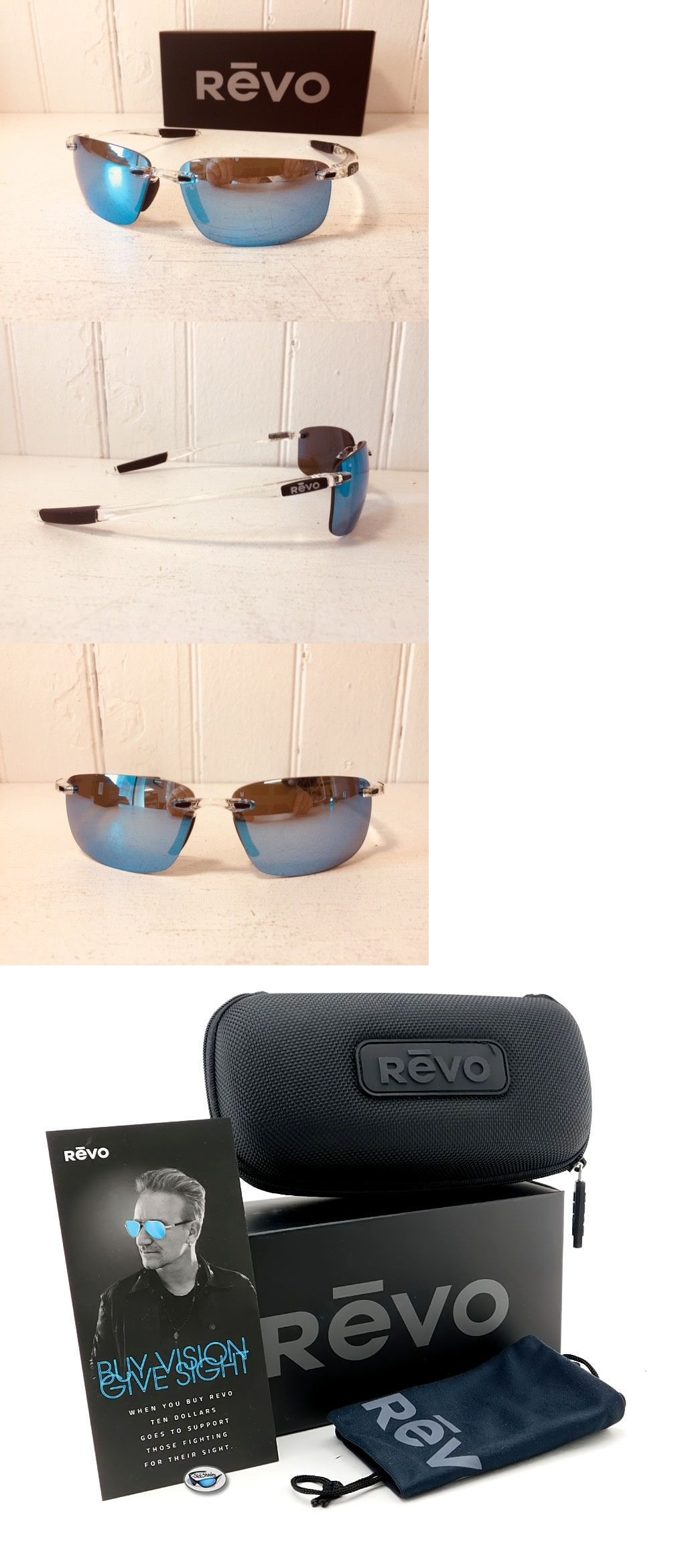 72efe517acd Accessories 179245  Revo Re4059 09 Bl Descend N Crystal W Blue Water  Polarized Lenses Sunglasses -  BUY IT NOW ONLY   128.99 on eBay!