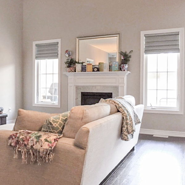 Hunter Douglas Solera Soft Shades In A Family Room Family Room