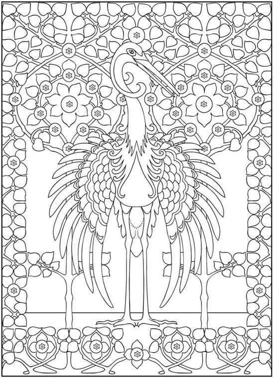 Art Nouveau Animal Designs | Pinterest | Libros para colorear ...
