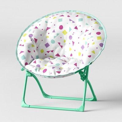 Peachy Kids Dish Chair Confetti Print White Pillowfort Products Creativecarmelina Interior Chair Design Creativecarmelinacom