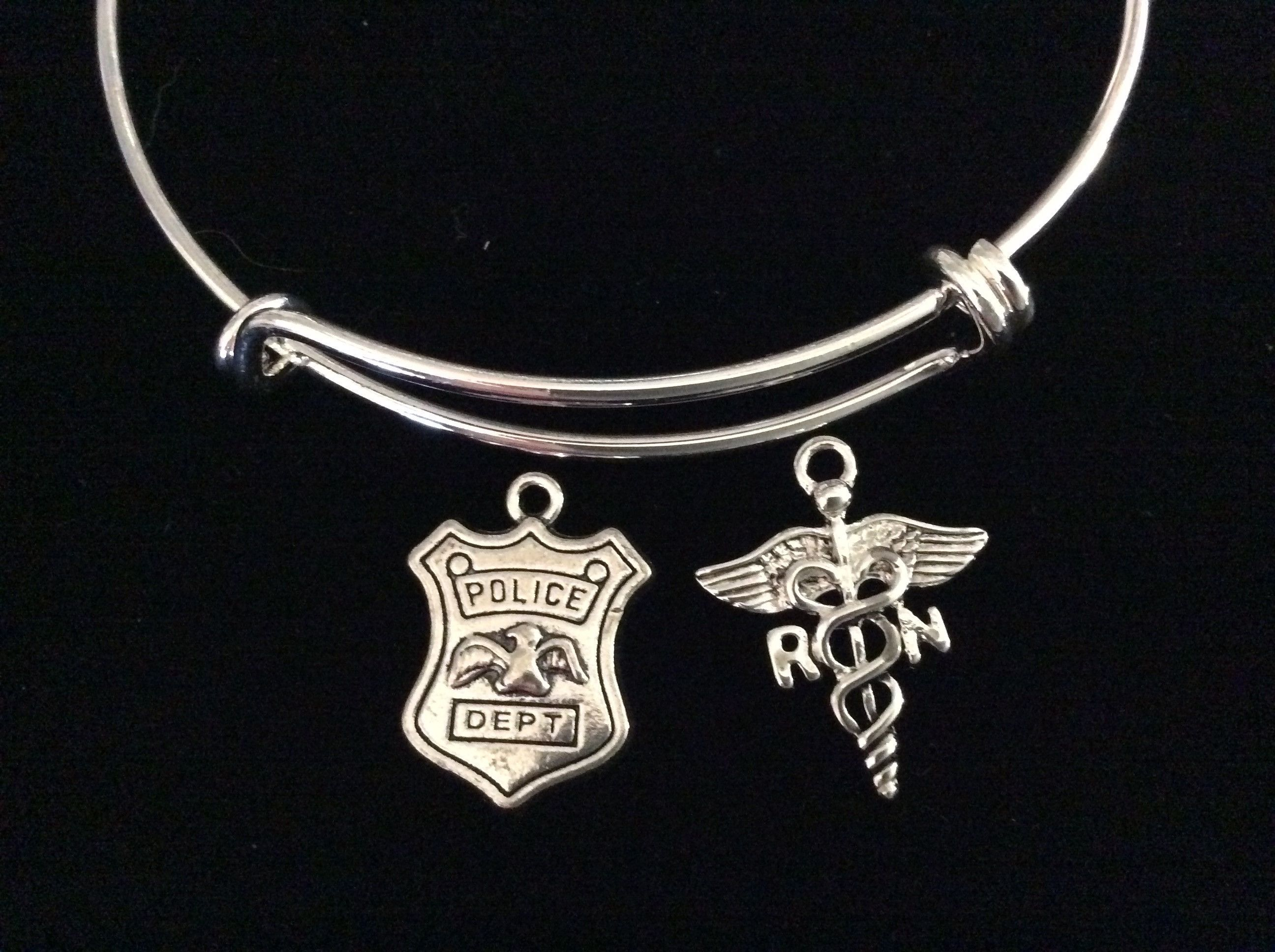 sterling soul silver police product camper badge happy mystic pendant necklace by
