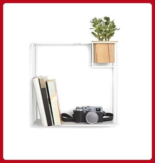 Umbra Cubist Floating Wall Shelf Large White Refine