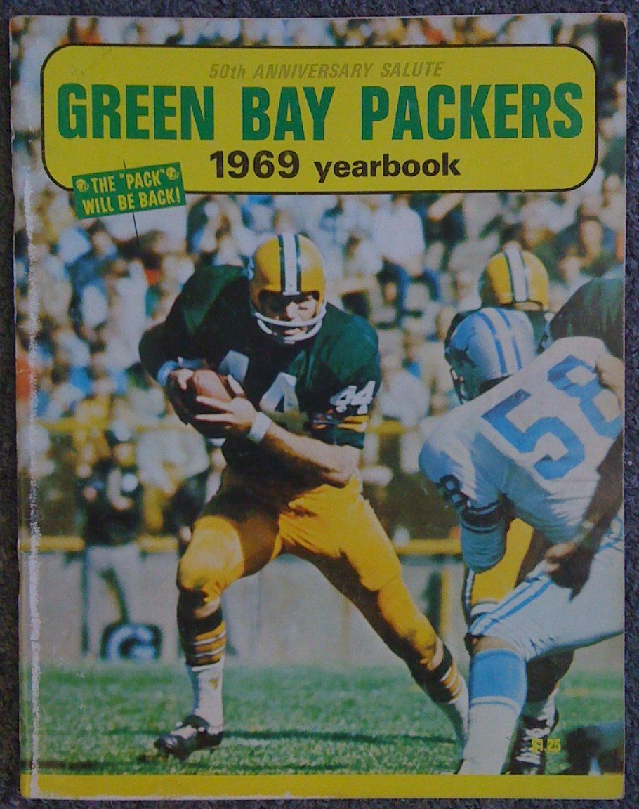 1969 Green Bay Packers Yearbook Donny Anderson on Cover