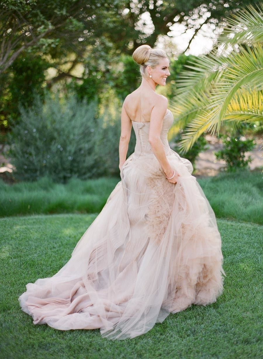 Vera wang pink wedding dress  Spring Santa Barbara Wedding at Villa Sevillano Part II