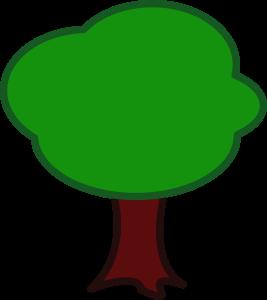 Tree By Peterm A Simple Tree Cartoon Trees Free Tree Clipart Tree Clipart