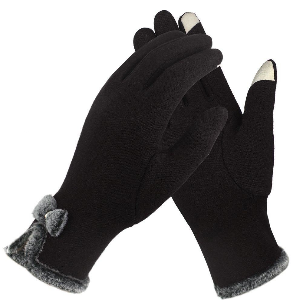 Fantastic Zone Women Screen Touch Gloves Winter Thick Warm Smart Texting Gloves