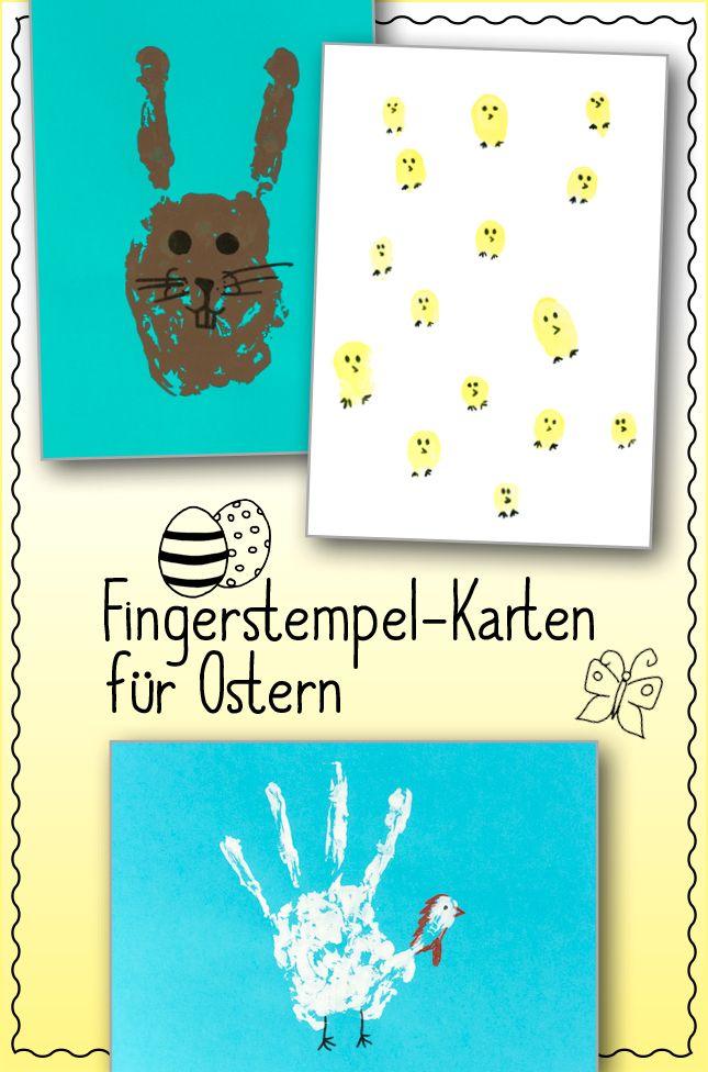 Fingerstempel-Karten für Ostern #Bastelanleitung auf #arskreativ #DIY