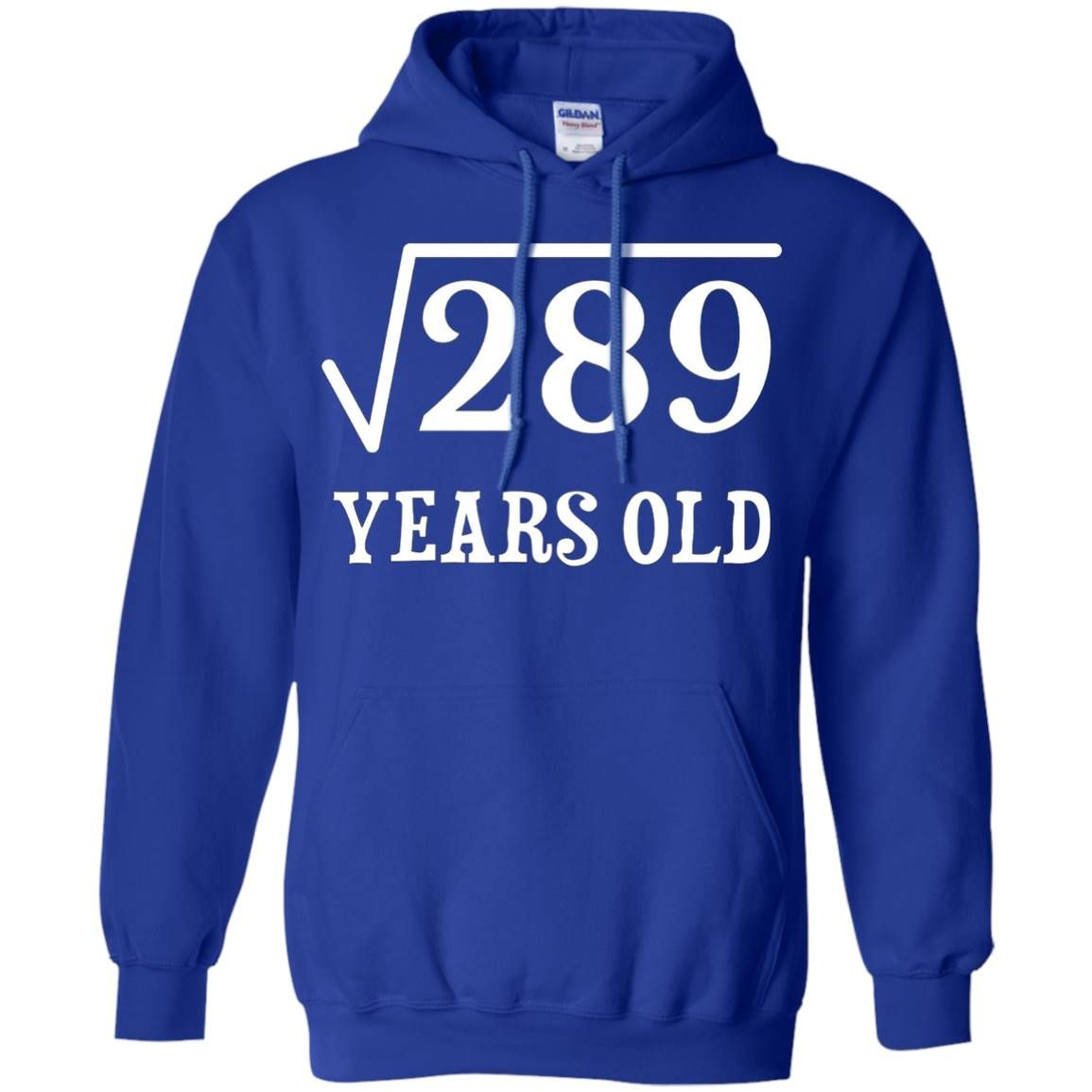 Square Root Of 289 17 Yrs Years Old 17Th Birthday Hoodie - Royal #17thbirthday