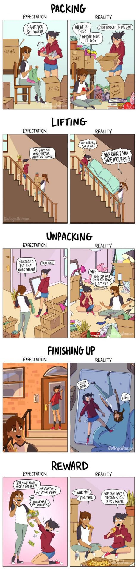 Helping a friend move Expectations vs Reality is part of Expectation vs reality - Share with your friends now