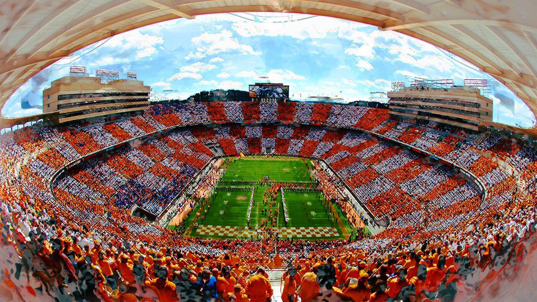 Neyland Watercolor | Tennessee football, Neyland stadium ...