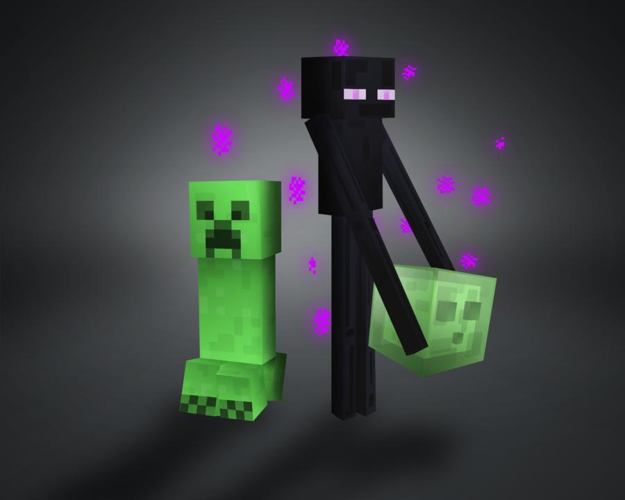 Enderman Yan And Creeper Jack By Chuchucolate On Deviantart Minecraft Tattoo Minecraft Drawings Minecraft Art