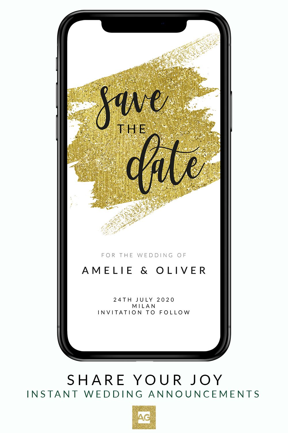 This Phone Save The Date Announcement Is Specially Made To Fit