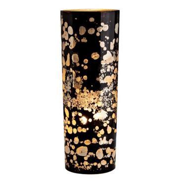 Flynn Black Reactive Glass Accent Lamp