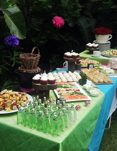 Alice In Wonderland Mad Hatter Tea Party Baby Shower Food Table
