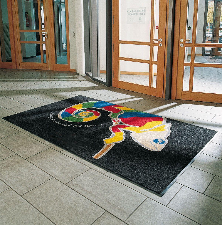 Teppich Eingangsbereich schmutzfangmatten bedrucken der ideale schmutzfänger für den