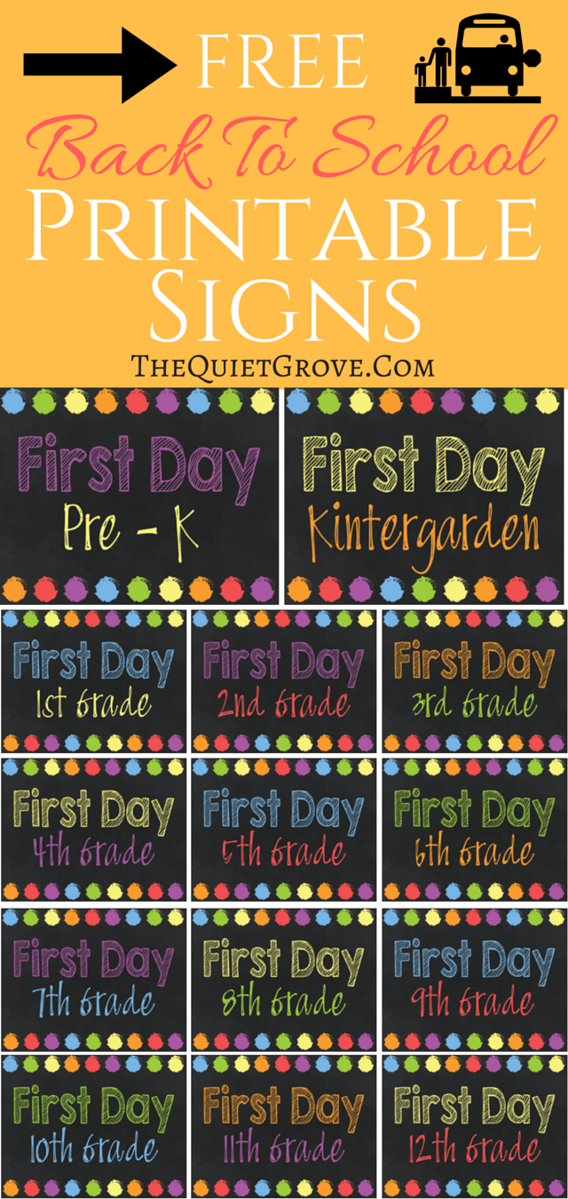 5 Free Back To School Printable Sign Sets The Best From