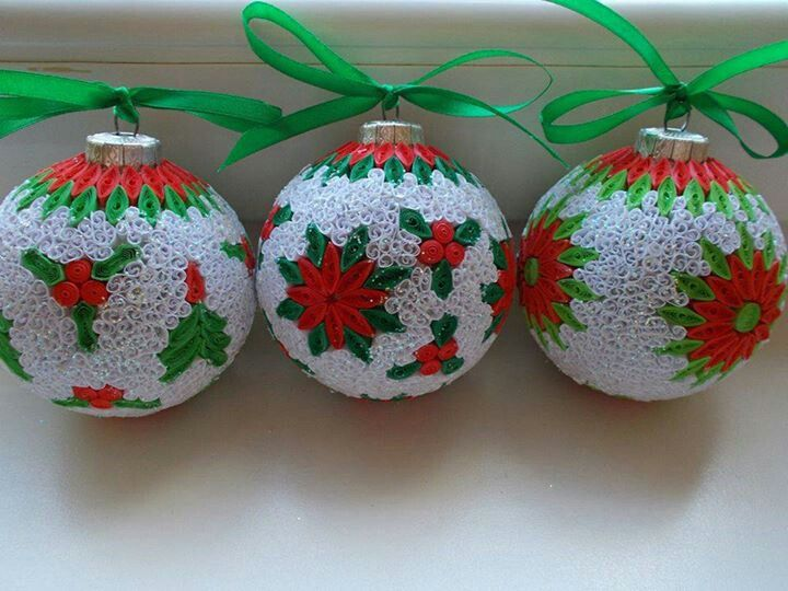 Quilling Christmas ornaments - Quilling Christmas Ornaments Christmas Decoration Pinterest
