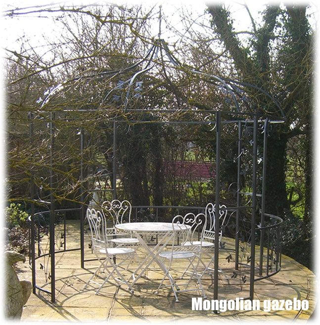 Round Garden Gazebo Enhance Your Outdoor Living Space With The Mongolian  Style Metal Gazebo.