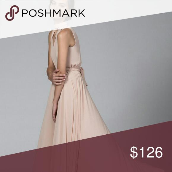 TYLR designer gown dress chiffon blush nastygal Brand new TYLR blush choker gown/dress Nasty Gal Dresses Maxi