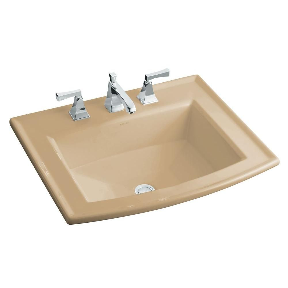 Kohler Archer Drop In Vitreous China Bathroom Sink In Mexican Sand