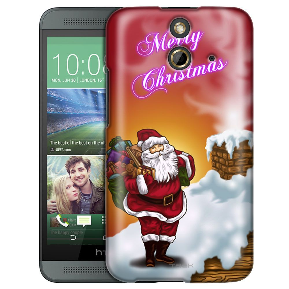 HTC One E8 Merry Christmas with Santa at Sunrise Slim Case