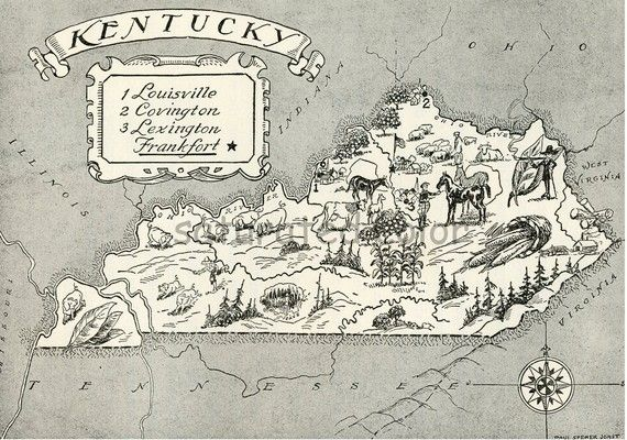 Kentucky Map A Delightfully Amusing Original by SaturatedColor ... on kentucky map outline, kentucky map 3d, kentucky map coloring sheets, kentucky map clipart, kentucky state bird cartoon, kentucky derby cartoon, kentucky map drawing, home cartoon,