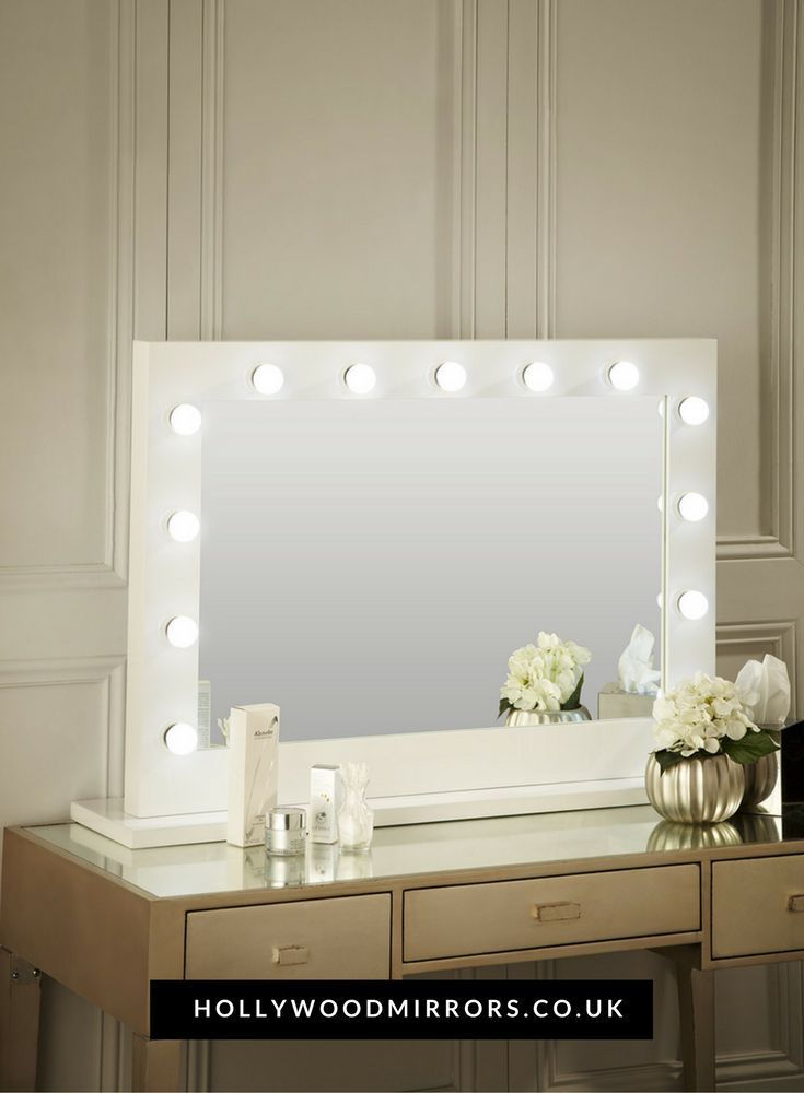 Audrey Hollywood Style Mirror With Lights Makeup Mirror
