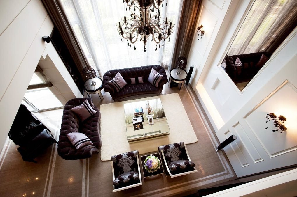 Button Backed Sofas Living Room Designs Pinterest Contemporary - interieur design studio luis bustamente