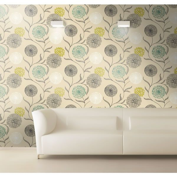 K2 starburst wallpaper lime teal 10443 floral coloured wallpaper from wilkinson plus - Teal wallpaper wilkinsons ...