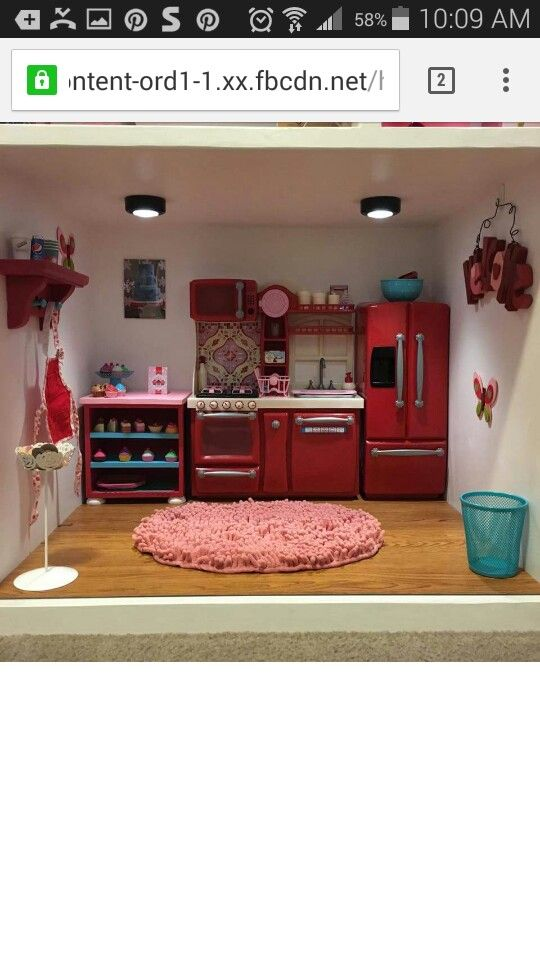 American Girl Dollhouse Kitchen Part 76