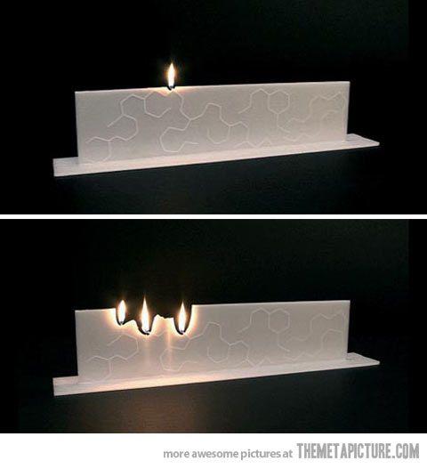 Una idea diferente para una vela