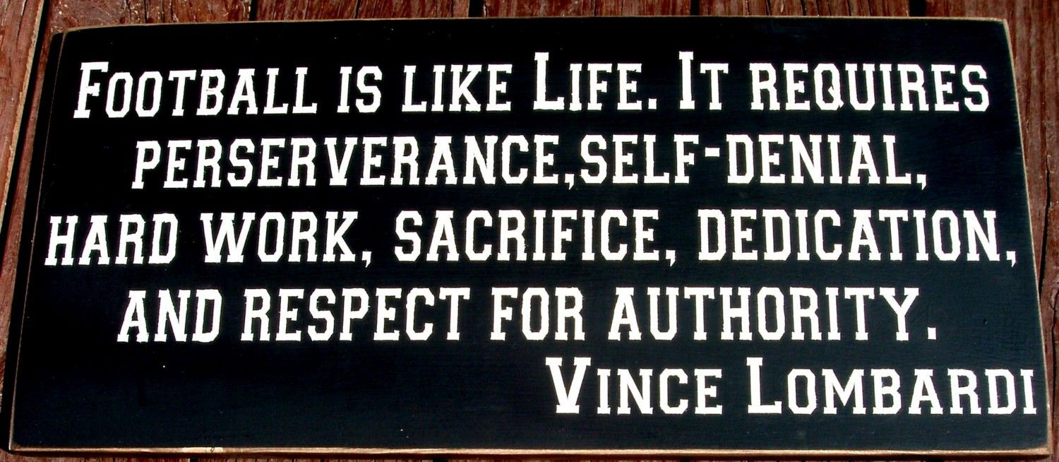 Motivational Football Quotes By Vince Lombardi Football Quotesquotesgram  Sports Quotes