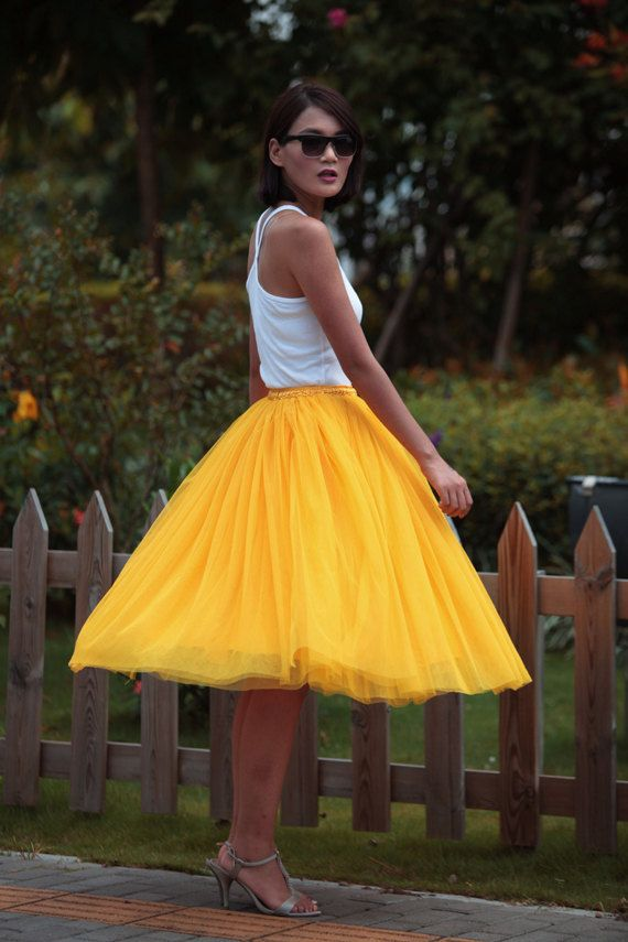 7731f269cea Tulle Skirt Tea length Tutu Skirt Knee length by Sophiaclothing ...