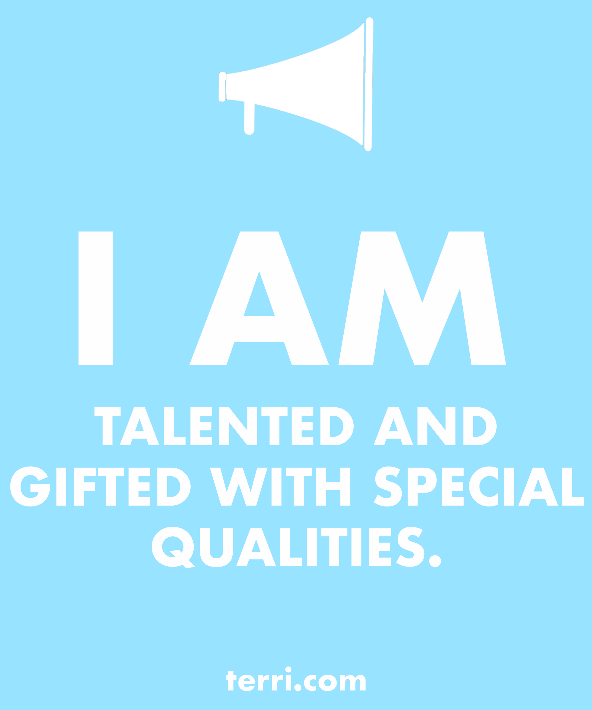I Am Talented And Gifted With Special Qualities Your Words Are Powerful And The Words You Speak About Yourse Pep Talks Daily Affirmations Manifestation Quotes