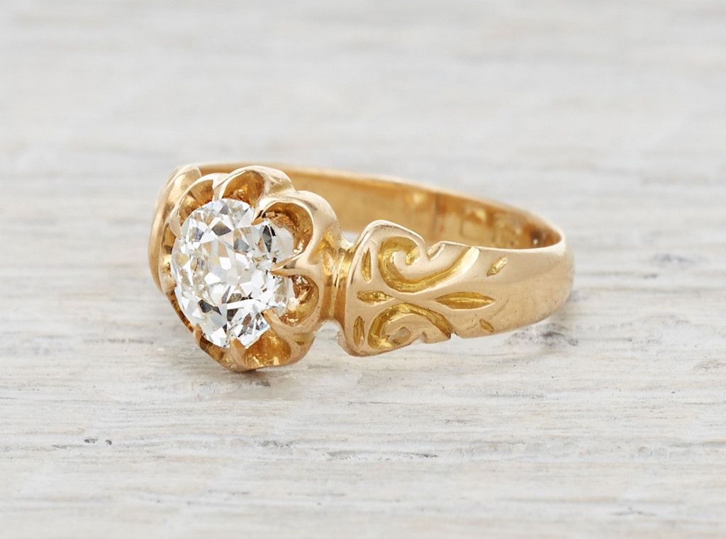 .71 Carat Gold Victorian Engagement Ring