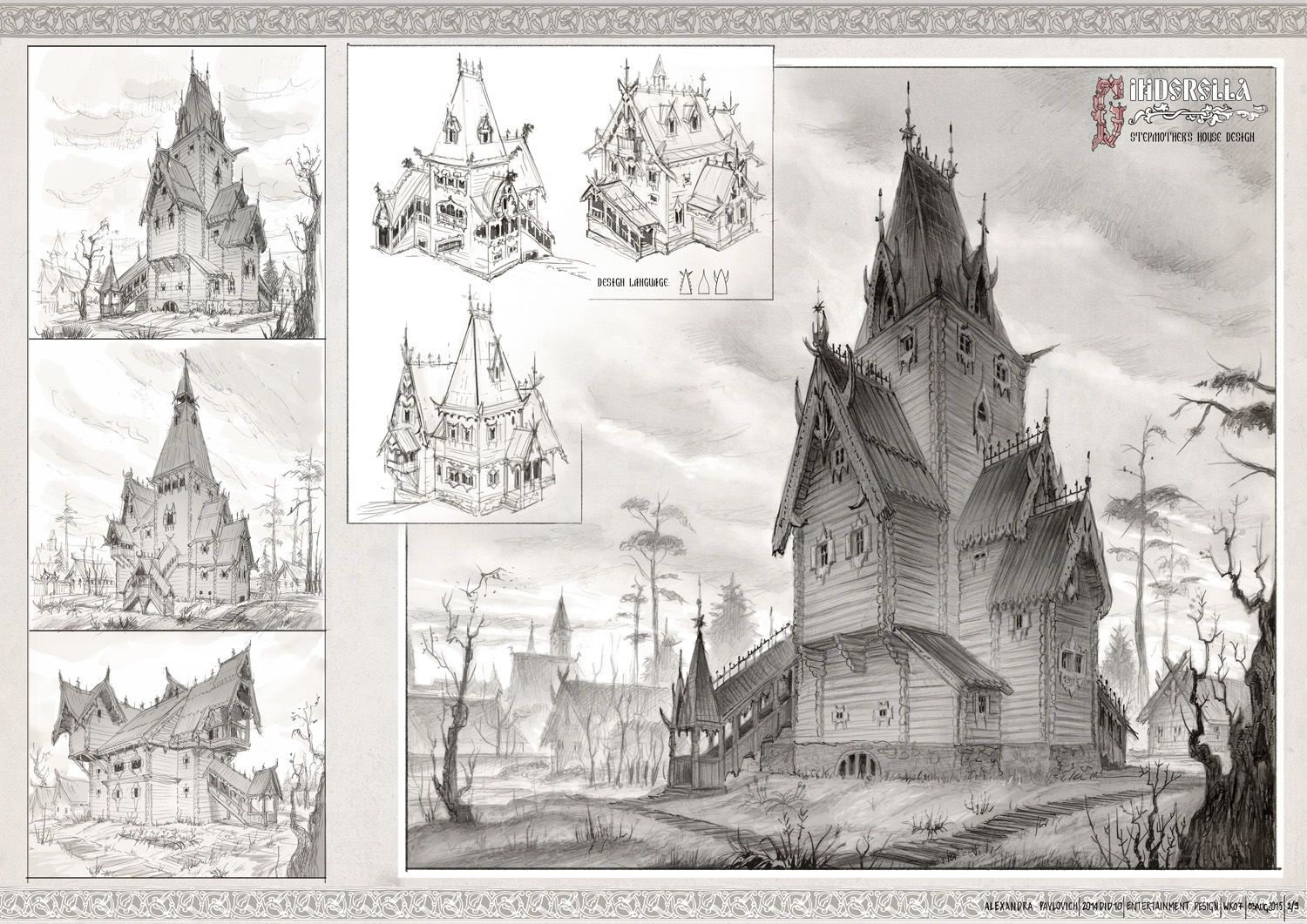 Gothic Victorian House Landscape Location Environment