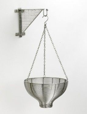 """""""Bamborough Place"""" contemporary hanging basket in woven steel   Black Country Metal Works"""