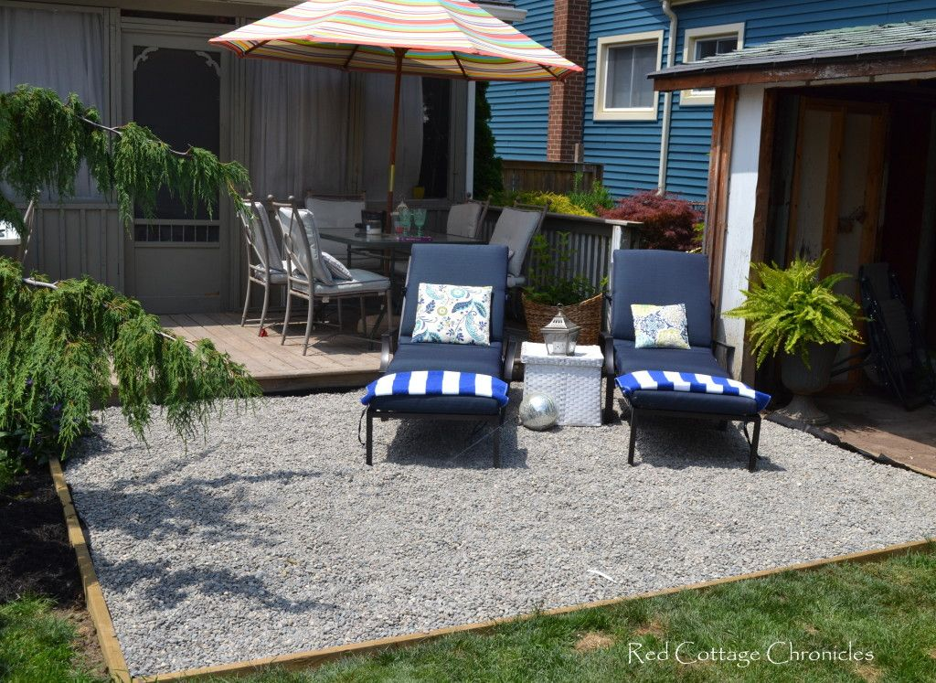 backyard makeover - pea gravel patio | backyard makeover, backyard ... - Gravel Patio Designs
