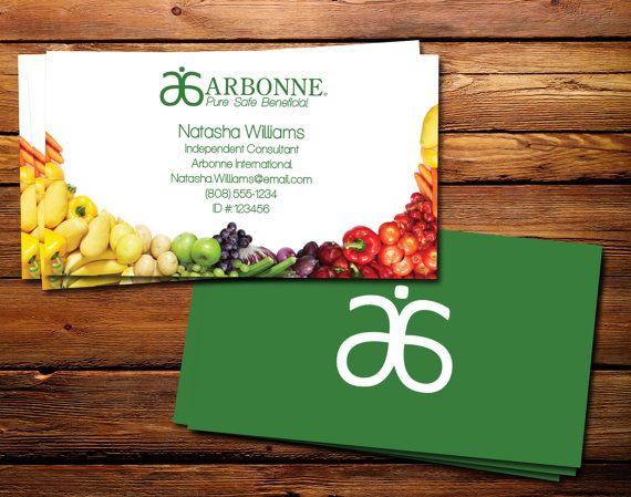 Arbonne Produce Business Card Design 3 5 Quot X2 Quot Digital Files Arbonne Business Cards Business Card Design Card Design