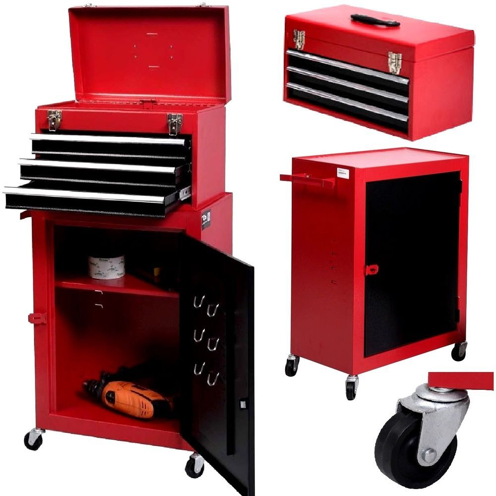 portable rolling tool chest box cabinet garage storage toolbox organizer drawer costway