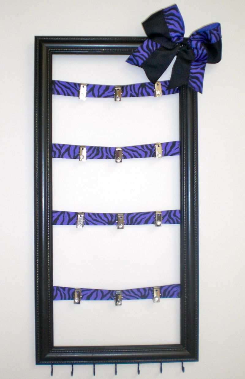 Cheer bow holder for cheer bows and hair bows cheer bow hanger - Cheer Bow Holder This Is A Cute Idea If My Daughter Ever Cute Cheer Bowscheer Bow Holderscheerleading