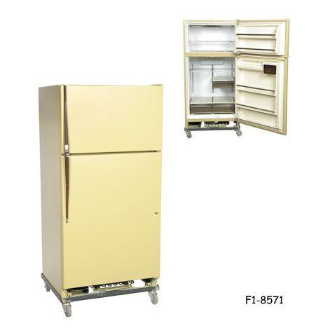 Refrigerator Omega Cinema Props Refrigerator Wire Shelving Painted Fridge